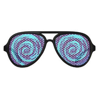 Het paarse & Blauwe Hypnotic Art. van de Werveling Aviator Zonnebril