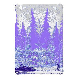 Het Paarse BosART. van de schilderachtig Winter iPad Mini Cases