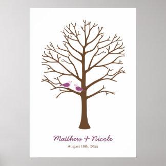 Het paarse Bruine Huwelijk van de Boom van de Ving Poster