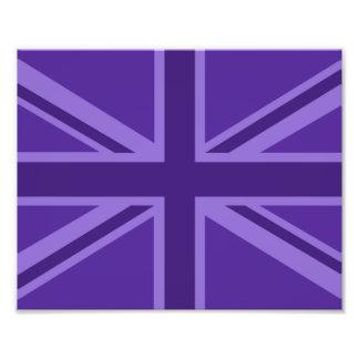 Het paarse Decor van Union Jack van het Accent Fotografische Afdruk