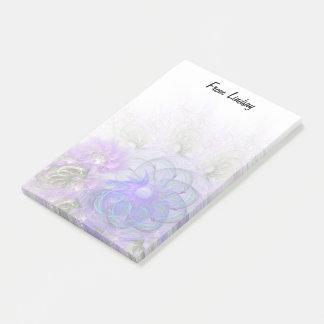 Het paarse en Blauwe Kanten Abstracte Ontwerp van Post-it® Notes