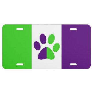 [Het Paarse en Groene] kleur-Blok van Strepen Nummerplaat