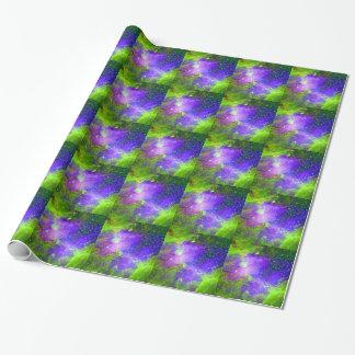 het paarse en groene ruimtebeeld van de Nevel van Inpakpapier