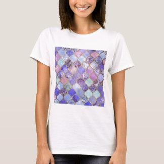 Het paarse en Lichtblauwe Marokkaanse Patroon van T Shirt