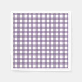 Het paarse en Witte Gecontroleerde Patroon van de Wegwerp Servet