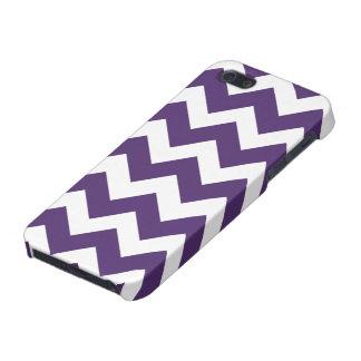 Het paarse en Witte Patroon van de Chevron iPhone 5 Hoesje
