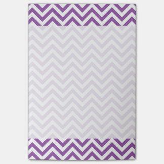 Het paarse en Witte Patroon van de Chevron van de Post-it® Notes