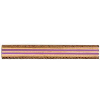 Het paarse en Witte Patroon van de Streep Esdoorn Liniaal
