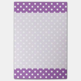 Het paarse en Witte Patroon van Stippen Post-it® Notes