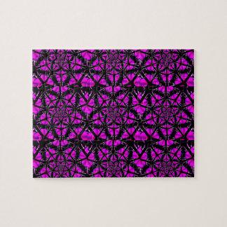 Het paarse en Zwarte Patroon van de Hippie Puzzel