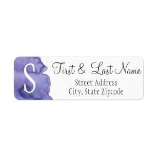 Het paarse Etiket van het Adres van de Terugkeer