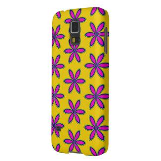 Het paarse Flard van de Bloem Galaxy S5 Hoesje
