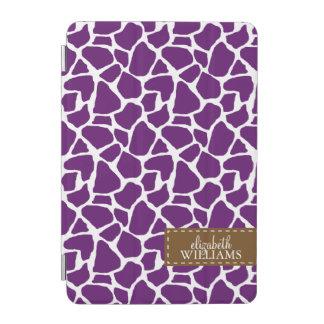 Het paarse Gepersonaliseerde Patroon van de Giraf iPad Mini Cover