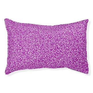 Het paarse Gespikkelde Bed van het Huisdier Hondenbedden