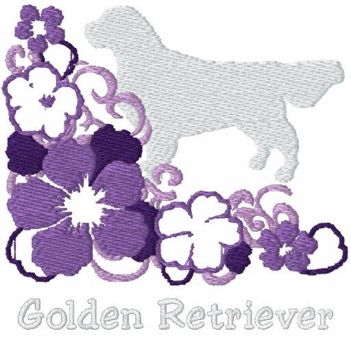 Het paarse Golden retriever van de Hibiscus Hoodie