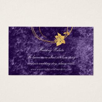 Het paarse Gouden BloemenViooltje van het Fluweel Visitekaartjes