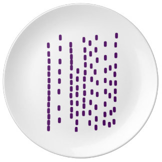 Het paarse grote bord van DNA Porselein Bord