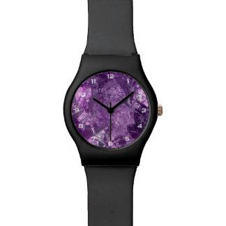 Het paarse Grunge Horloge van de Collage May28th