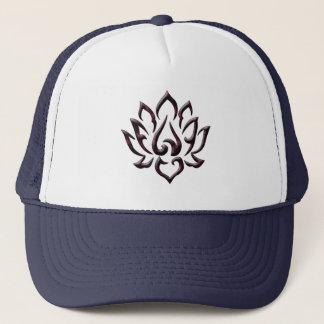het paarse heelal van de lotusbloembloem trucker pet