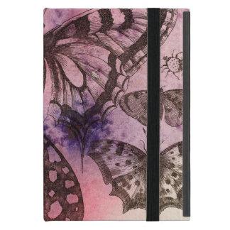 Het paarse Hoesje van de Kunst van de Vlinder van iPad Mini Hoesje