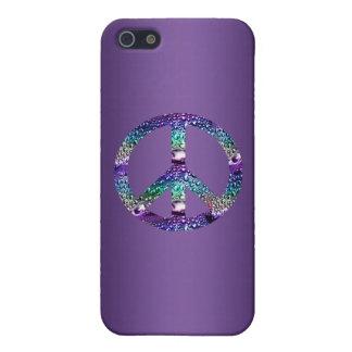 Het paarse Hoesje van het Teken van de Vrede ook iPhone 5 Hoesje