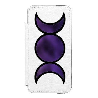 Het paarse Hoesje van iPhone van de Portefeuille