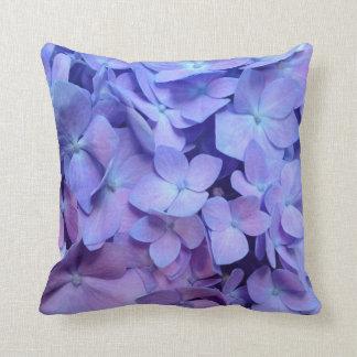 Het paarse Hoofdkussen van de Hydrangea hortensia Sierkussen