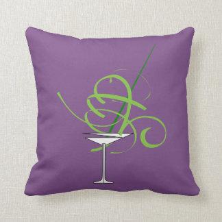 Het paarse Hoofdkussen van het Glas van Martini Sierkussen