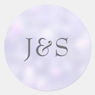 Het paarse huwelijk personaliseerde aanvankelijke ronde sticker