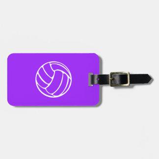 Het paarse Label van de Bagage van het Volleyball Kofferlabel