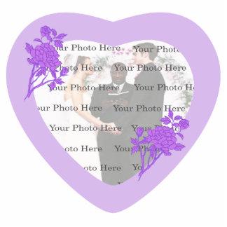 Het paarse Lijst van de Foto van het Huwelijk van  Staand Fotobeeldje