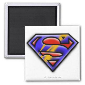 Het paarse Logo van de Superman van het Luchtpense Magneten