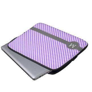 Het paarse Monogram van de Douane van het Patroon Laptop Sleeve