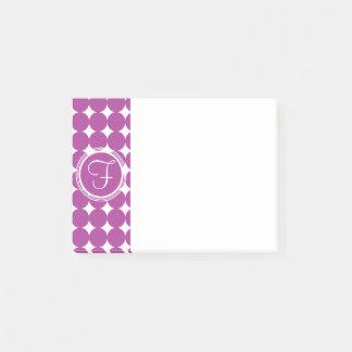 Het paarse Monogram van de Stip Post-it® Notes