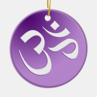 Het paarse Om Ornament van het Symbool