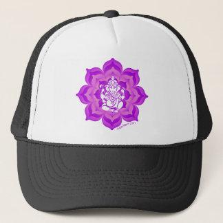 Het paarse ontwerp van Ganesh Trucker Pet