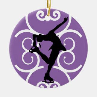 Het Paarse Ornament van de Schaatser van het