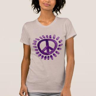het paarse overhemd van het vredesteken t shirt