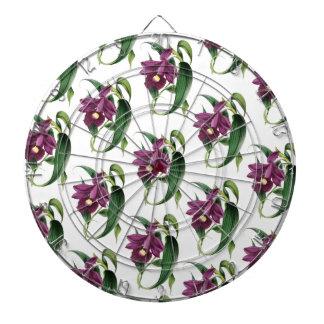 Het paarse Patroon van de bloemen van Orchideeën Dartbord
