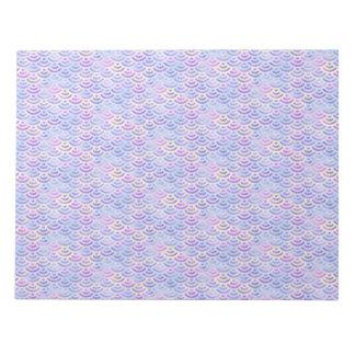Het paarse Patroon van de Pastelkleur van de Notitieblok
