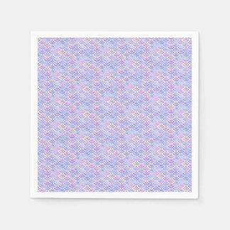 Het paarse Patroon van de Pastelkleur van de Wegwerp Servet