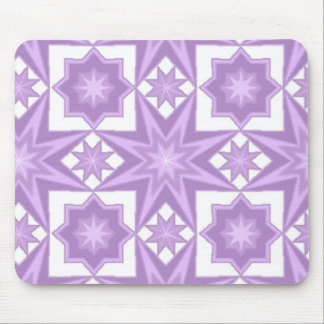 Het paarse Patroon van het Dekbed van de Ster Muismat