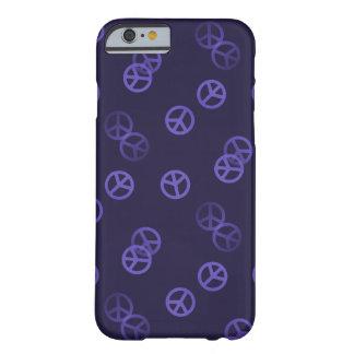 Het paarse Patroon van het Teken van de Vrede Barely There iPhone 6 Hoesje