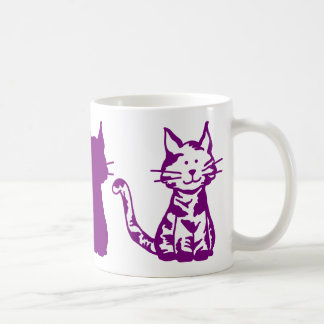 Het paarse Patroon van Katten Koffiemok