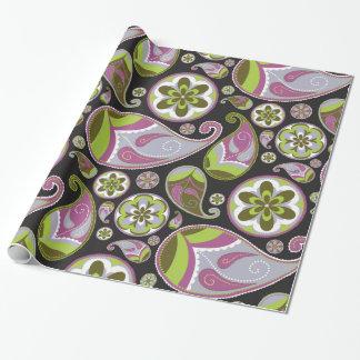 Het paarse Patroon van Paisley Cadeaupapier
