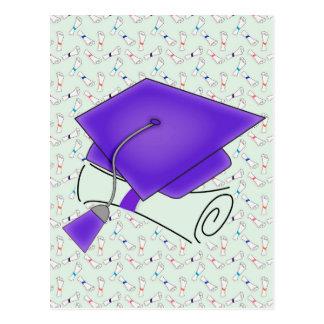 Het paarse Pet van Afstuderen & Diploma, Briefkaart