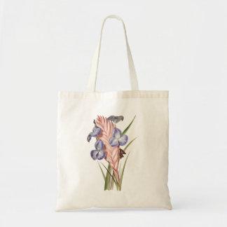 Het paarse Plant van de Lucht van Bloemen Draagtas