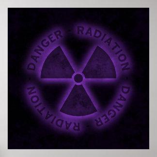 Het paarse Poster van het Symbool van de Straling