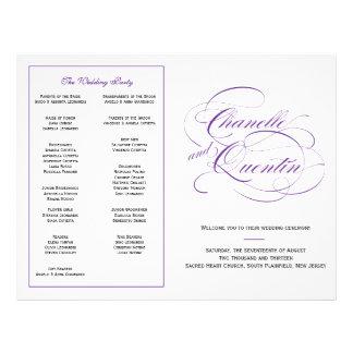 Het Paarse Programma van het Huwelijk van de Flyer 21,6 X 27,9 Cm