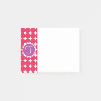 Het paarse & Rode Monogram van de Stip Post-it® Notes